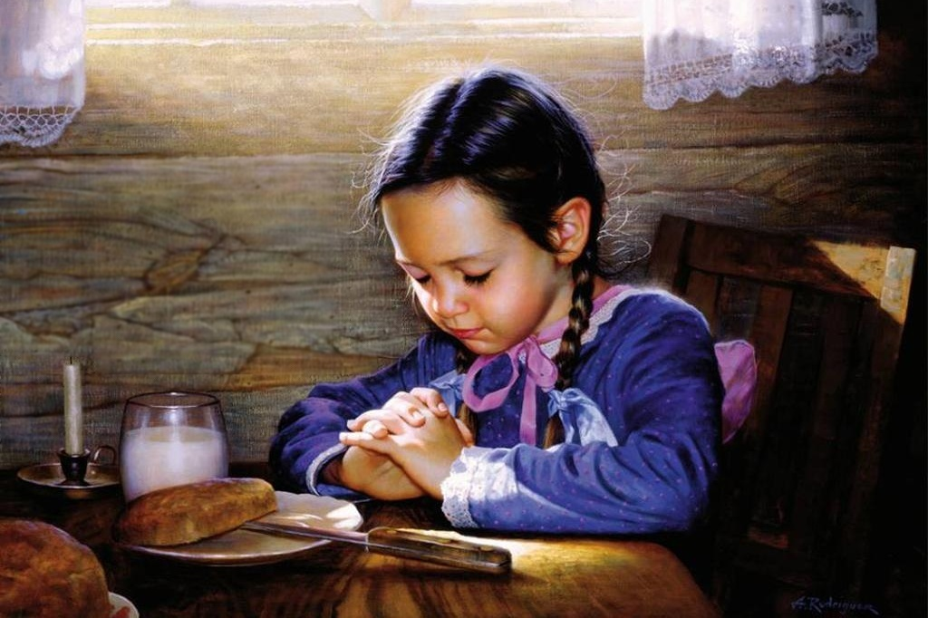 girl praying - Alfredo Rodriguez heritagegallerywest.com