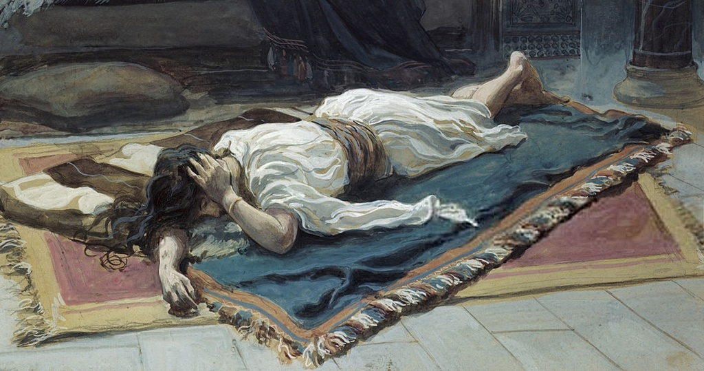 Bathsheba Mourns Her Husband by James Tissot (1836-1902)